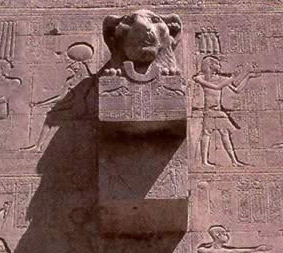 A waterspout at the Temple of Hathor at Dendera