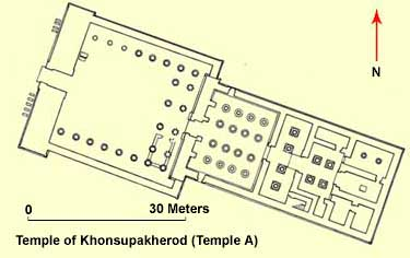 Ground Plan of the Temple of Khonsupakherod