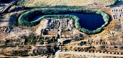 Aerial View of the Temple of Mut at Karnak