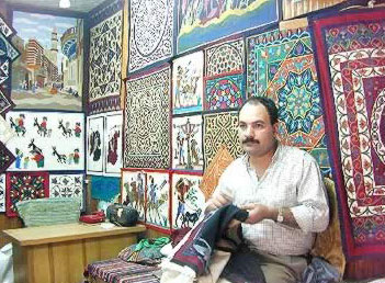 The products are a mix between traditional artwork daily life durables and tourist-oriented kitsch. Especially beautiful are the calligraphic andarabesque ...  sc 1 st  Tour Egypt & Shopping Around in Egypt - Bazaar of the Tentmakers in Cairo Egypt