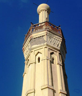 Minaret of the Terbana Mosque in Alexandria, Egypt