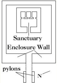 Plan of the Horus Temple of Sankhkare Mentuhotep