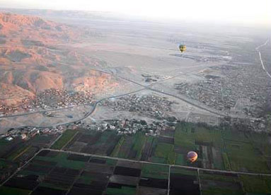 Everyone who took the balloon ride over the West Bank agreed that it was one of the highlights of the trip