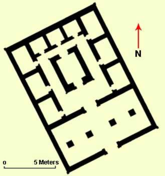 Ground plan of Senusret's symmetrically designed temple of Montu at Tod