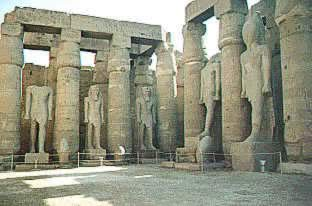 Statues at the Temple of Karnak