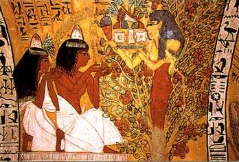 Tree Goddess from the Tomb of Sennedjem TT1 in the Valley of the Kings