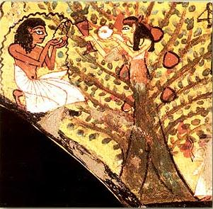 Tree Goddess from the tomb of Pashedu in the Valley of the Kings