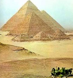 The Great Pyramids of Egypt at Giza near Cairo