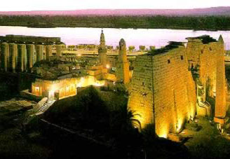 Luxor Temple in Luxor, Egypt, once the Captial known as Thebes in ancient times