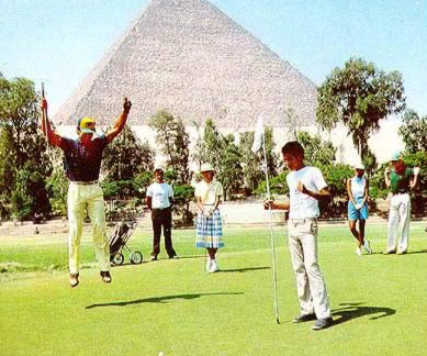 Playing Golf at the Mina House in the Shade of the Great Pyramids