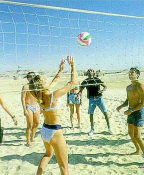 Volleyball on an Egyptian Beach at El-Gouna on the Red Sea