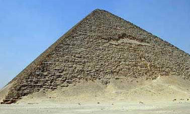 The Red Pyramid is a very early, if not the earliest example of a true pyramid