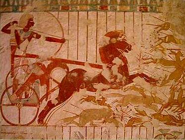 Hunting scene with Userhat in his chariot