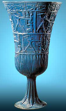 A Faience goblet from Tuna el-Gebel