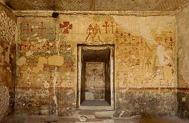 Inside the tomb of Djehutihotep at Deir el-Bersha