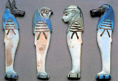 Small figurines of gods from Tuna el-Gebel