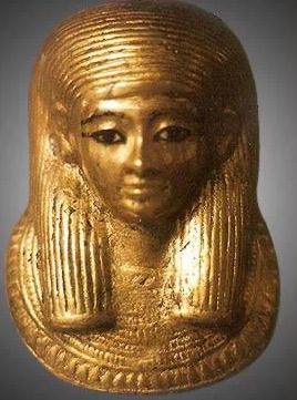 The golden mask of the first mummy (317a(2))