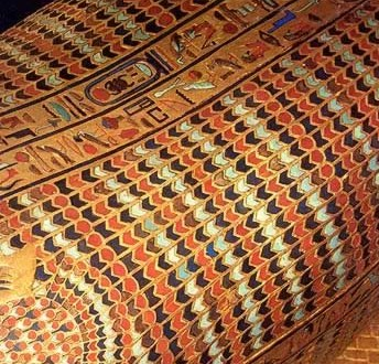The fine work of King Tut's second coffin