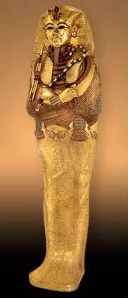 The golden inner coffin of King Tutankhamun