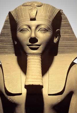 Statue of Tuthmosis The 3rd in Egypt