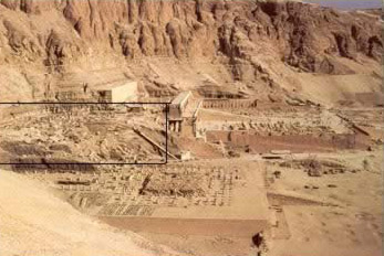 Another View  of the Mortuary Temple of Tuthmosis III on the West Bank at Luxor