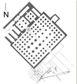 Floor Plan of the Mortuary Temple of Tuthmosis III on the West Bank at Luxor