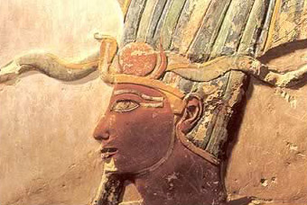 A depiction of Tuthmosis III in his Mortuary Temple Complex at Luxor