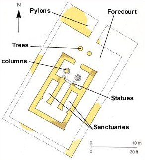 Floorplan of the temple