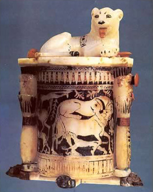 Unguent Container with Crouching Lion on the Lid