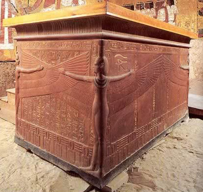 Sarcophagus of Brown Quartzite