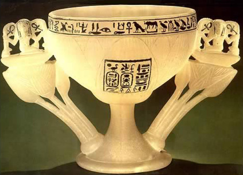 "An alabaster chalice, wishing the king ""millions of years"" of happily enjoying the cool breeze from the north"
