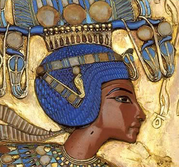 King Tut from an image on the back of his gold throne