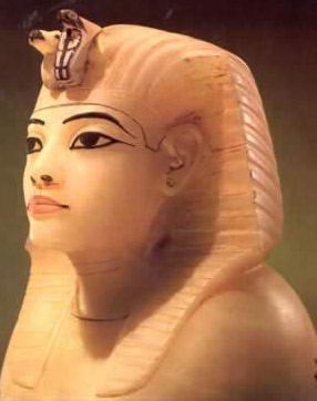 Alabaster Canopic figure from the Tomb of Tutankhamun