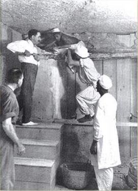 Howard Carter Working in the Tomb of Tutankhamun