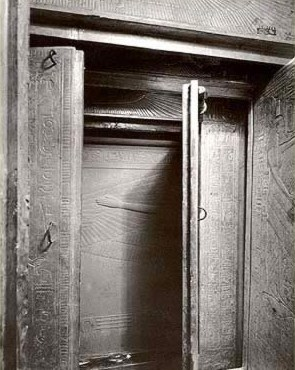 A view inside the innermost Shrine of Tutankhamun