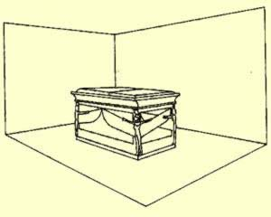 Drawing of the  Sarccophagus of King Tutankhamun