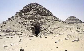 Another view of the  Pyramid of Userkaf at Saqqara in Egypt