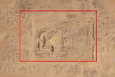 An overhead view of the Sun Temple of Userkaf at Abusir