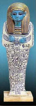 Shabti of Ptahmose in Polychrome Faience