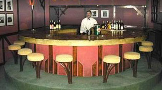The bar at the Victoria Hotel in Cairo