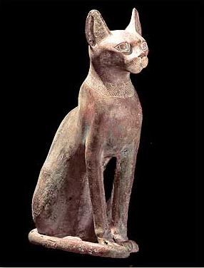 Bronze Cat from the Ptolemaic Period used as a votive offering