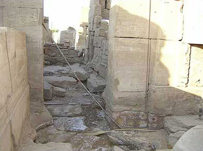 More destruction at Karnak Temple