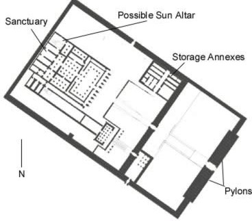 Ground Plan of the Temple of Tuthmosis III