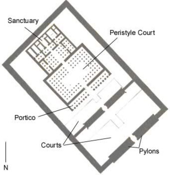 Plan of the Temple of Tuthmosis IV