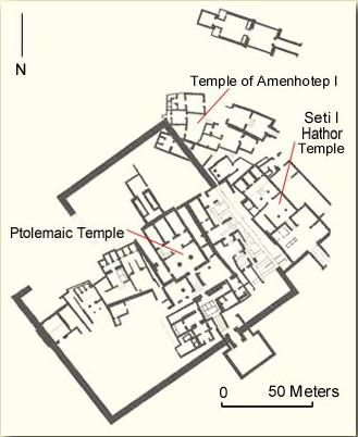 Plan of the Temples at Deir el-Medina