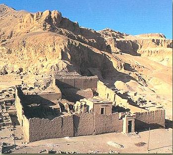 A view of the Ptolemaic (Greek) Temple of Hathor on the West Bank at Luxor