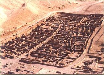 Deir el-Medina on the West Bank of Luxor (ancient Thebes) in Egypt