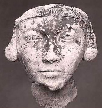 This plaster mask is not Tut, but perhaps his mother Kiya