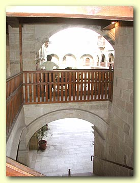 Courtyard seen from the main staircase