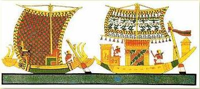 Two Nile boats as represented by Wilkinson
